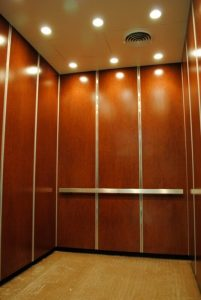 A good example of Long Island City Metal Paneling inside an elevator